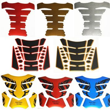 1x Tank Pad Tankpad Protector Sticker For Motorcycle Universal Fishbone 3D Rubber sticker Motorcycle Tank sticker Free Shipping