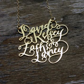 Calligraphy Necklace - Four Names