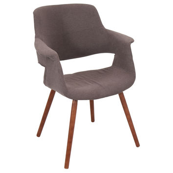 Lumisource Vintage Flair Chair in walnut/medium brown