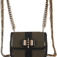 Christian Louboutin - Sweet Charity mini patent-leather and glittered PVC backpack