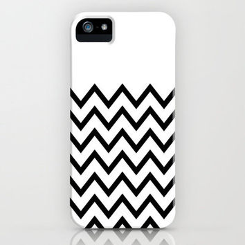 Black Chevron On White iPhone Case by Pencil Me In ™ | Society6