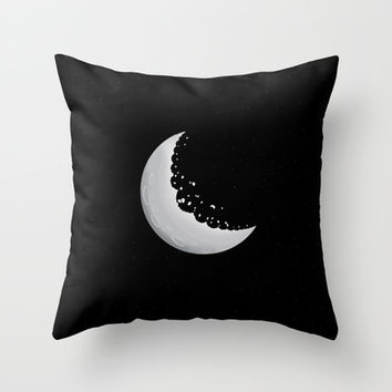 Moon cookie Throw Pillow by Tony Vazquez