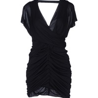 Pinko Black Short Dress - Women Pinko Black Short Dresses online on YOOX United Kingdom