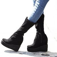 Jeffrey Campbell + Free People Womens Verge Platform Wedge Boot