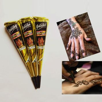 High Quality  Natural 25g India Henna Temporary Tattoo Black Ink  for Body Drawing Paint  Free Shipping