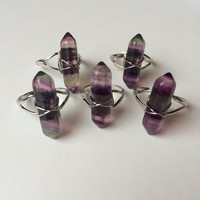 Fluorite Crystal Point Ring