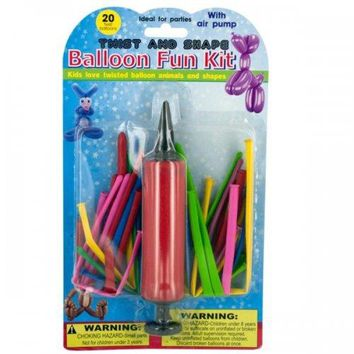 Twist & Shape Balloon Fun Kit With Pump (pack of 24)