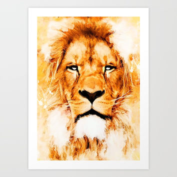 lion art #lion #animals Art Print by jbjart