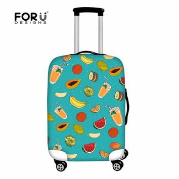FORUDESIGNS Cartoon Case Cover Kprean Style Suitcase Trunk Protective Covers For Women Girls Donuts Kawaii Travel Accessories