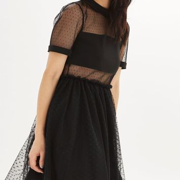 Spot Mesh Tulle Prom Dress | Topshop