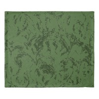 Deep Green Delicate Ornamental Pattern Duvet Cover