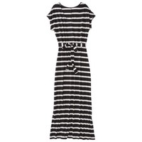 Merona® Petites Short-Sleeve V-Neck Maxi Dress - Black/Cream