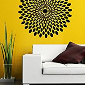 Wall Decal Vinyl Sticker Decals Art Decor Design Mandala Yoga Symbol Ornament Indidan Geometric Moroccan Pattern Modern Bedroom Dorm (r699)