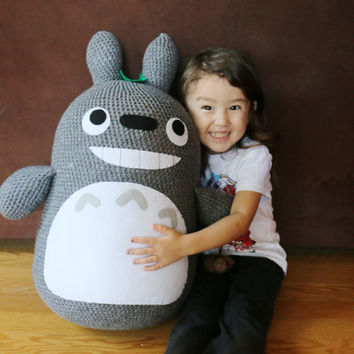 Extra Large Crochet Totoro - My Neighbor Totoro -  MADE TO ORDER