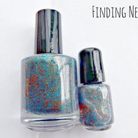 Finding Nemo Nail Polish - mini bottle - Handmade - polish - micro glitter - lacquer