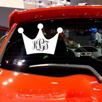 Princess Crown Car Decal Vinyl Sticker Decals Monogram Decal Crown Vinyl Sticker Window Truck Decal Stickers T9