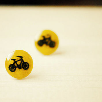 Bicycles | stud earrings