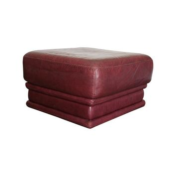 Pre-owned Leather Ottoman by Natuzzi