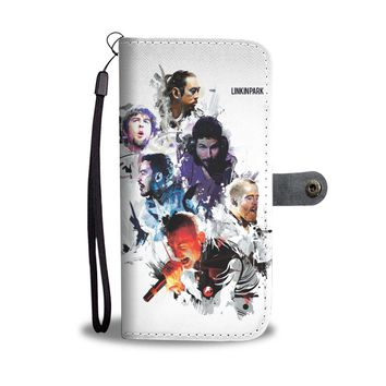 KUYOU Linkin Park Watercolor Wallet Phone Case