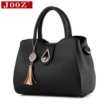 JOOZ new casual leather Fringed handbags high quality hotsale ladies party purse clutches women crossbody portable evening bags