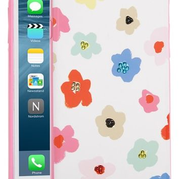kate spade new york 'faye' crystal embellished floral iPhone 6 Plus & 6s Plus case | Nordstrom