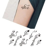 AddFavor 5Pcs Waterproof Body Art Tattoo Heart Love Letters Temporary Tattoo Fake Sticker Decoration Temporary Tattoo Stickers