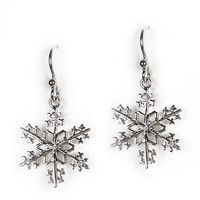 Jody Coyote Earrings from the Snowflake Collection - Simple Snowflake
