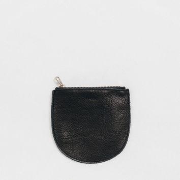 Small Leather Pocket Pouch Black
