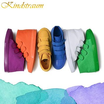 New Fashion Kids Canvas Shoes Children Candy Colors  Boots Boys and Girls Shoes Casual Child Sneakers
