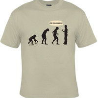 Hilarious Evolution Tee, Funny Graphic Tee, College Humor, Great Gift For Guys