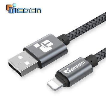 TIEGEM 5V2A Nylo USB Charger cable Fast Charging Adapter Power Bank 8 pin Cable For iphone 5 5S 6 6s 7 Plus SE Data Wire