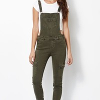 Kendall & Kylie Utility Overalls - Womens Jeans - Green