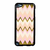 Gold Pink Chevron iPod Touch 5th Generation Case