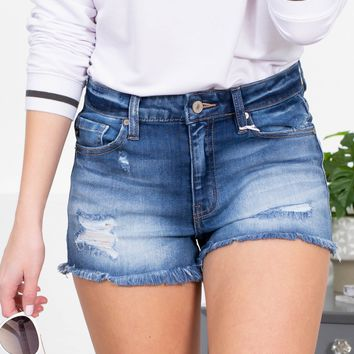 San Francisco Distressed Frayed Shorts