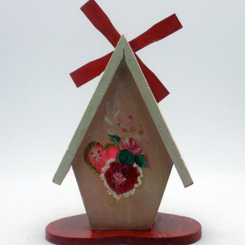 Hand Painted Little Quaint Bird House and by PaintedDesignsByLona