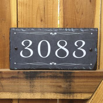 Customizable Slate Number House Sign - Handmade and Personalized