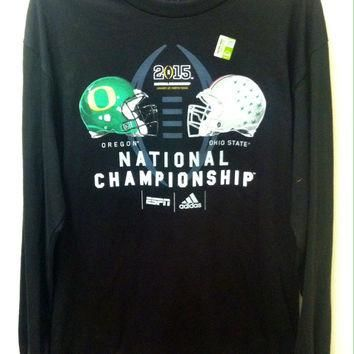 NCAA Ohio State Buckeyes VS Oregon Ducks Black Adidas Long Sleeve Shirt