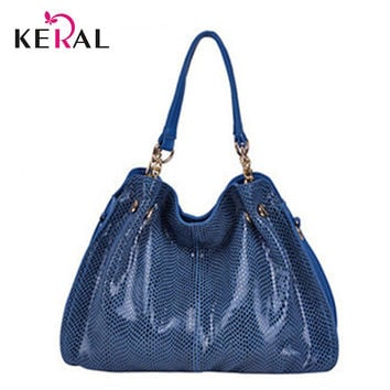 New Handbag 2015 New Korean Commuter Bag Snakeskin Pattern Shoulder Diagonal Package HandBags For Women CrossBody Bag