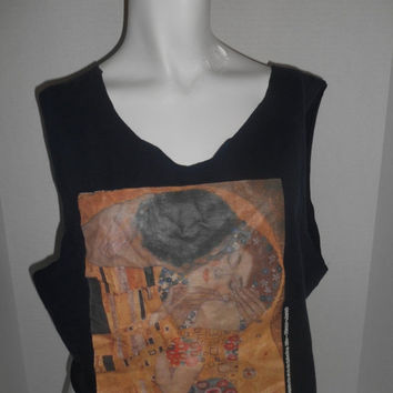 Happy Halloween SALE THE KISS      half cropped top tee T-shirt t shirt tshirt    altered