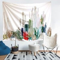 Southwestern Cactus Succulent Wall Tapestry