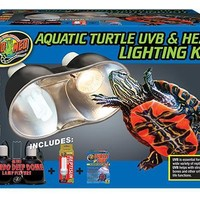 Zoo Med Aquatic Turtle UVB & Heat Lighting Combo Kit