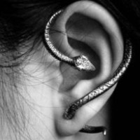 Silver Snake Cuff earring ear ring goth