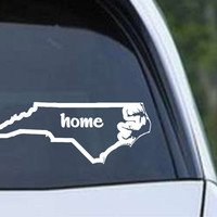North Carolina Home State Outline NC - USA America Die Cut Vinyl Decal Sticker