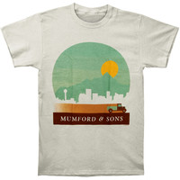 Mumford & Sons Men's  Calgary - Telluride 2013 Tour Slim Fit T-shirt White