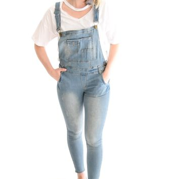 Hayden Light Denim Overalls