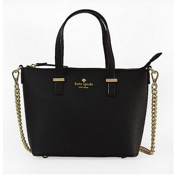 Spade Women Shopping Leather Tote Handbag Black