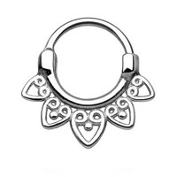 Tribal Fan Round Septum Clicker