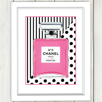 Chanel parfume digital art print, wall art, home decor,instant download, chanel wall art