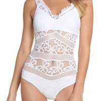Becca Color Play Crochet One-Piece Swimsuit   Nordstrom