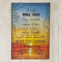 Be  Kind  Work  Hard  Natural  Life  Art  Print  From  Natural  Life